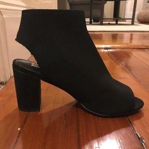 Steve Madden peep toe booties - size 8